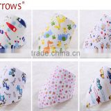 New Printed Cartoon Pattern High Quality Cotton Bandana Drool Bibs Baby Bibs Saliva Apron Towel