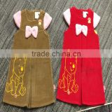 Wholesale Children Top fashion design Corduroy Emboridery small baby girls dress patterns