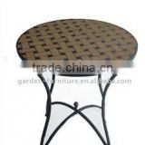 Fujian Anxi wrought iron handicrafts wholesale metal furniture french mosaic table bistro