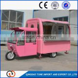Modern Design Light Pink Color Donut Waffle Hot Dog Kitchen Food Cart/ Towable Mobile Fryer Food Cart