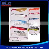 fishing soft lure bait assorted with jig-head combo kit in blister package