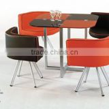 TH698 glass top modern design table and chairs cheap cafe furniture