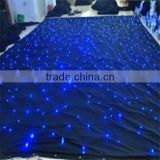 2015 new product good design black fireproof LED Star Curtain led light stage curtain for wedding decoration