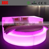 New design disco glowing furniture LED tanning bed hotel bed with 16 colors changing led light