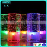 battery operated color changing led lights aluminium metal base crystal bubble led table lamp