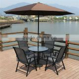 China supplier professional patio garden furniture sets with parasol