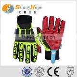 Oil and Gas Impact Gloves TPR Protection gloves mechanic protection gloves safety gloves