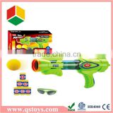 children toys rocket gun in window box