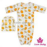 New Design Baby Punjabi Wear Suits Printer Lemon Sleeping Bag With Same Warm Hat For Newborn Boy&Girl