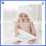 Amazon hot selling product 100% bamboo Fiber very soft natural color Baby Hooded Blanket towels