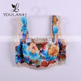 2015 HOT sale Sexy Comfortable Printed Flower Lace Bra Sets