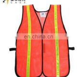 fluorescent mesh reflective safety vest with pvc tape