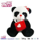 New plush stuffed panda with bag plush toy 0507 Shenzhen toy factory