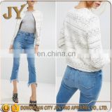 Vintage Style Boucle Cream Short Jackets with Fringe for Women and Girls China Manufacturer in Dongguan Humen JYABF018