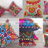 Suzani New Decorative Cushion Covers Embroidered Work Pillow Cover Embroidered Cushion Covers Uzbek Throw Pillow cover Cushion