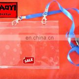 PVC card holder with lanyard business card holder metro card holder