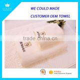 High Quality White Hotel Towels Set 100% Cotton Hotel Towel Baths Luxury Embroidery Hotel Face Towel