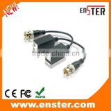 Enster Passive HDTVI HDCVI AHD Transceiver CCTV Twisted BNC 1Channel Video Balun COAX CATS5 /5E /6 Camera UTP Cable