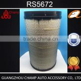 Wholesale high efficiency air intake filter for excavator RS5672 in industrial filtration equipment