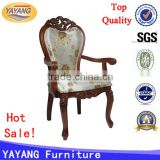 solid wood carved hand wing royal antique occasional chairs with arm, antique wood fabric cushion chair