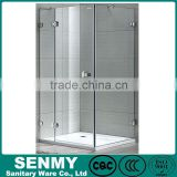 China supplier good quality rectangle hinge 3 sides glass frameless steam bath shower cubicle price