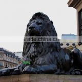 Bronze Trafalgar Square big lion statue