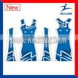 professional custom lycra netball dress with sublimation printing