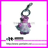 Crystal bear wear dance skirt keychain factory