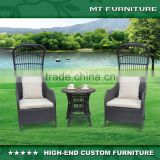 Modern Rattan Garden Furniture Table and Chairs Bistro Set