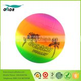 Colorful rainbow beach volleyball ball