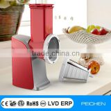 Electric vegetable and fruit Salad Maker,spiral slicer, Electric Vegetable Cutter,with chute-fed electric cone slicer