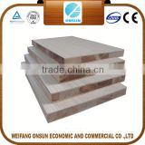 E0 glue melamine faced poplar core block board