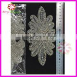 bridal beaded appliques,silver rhinestone applique wholesale,appliques for headband for sash