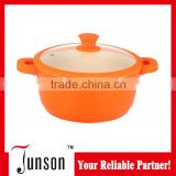 Ceramic Soup Pan with Silicon Nob and Protector/28cm Induction Soup Pot/Die Cast Aluminum Stock Pots
