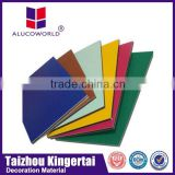 Alucoworld acp sheet 4mm acrylic decorative wallboard panels nano aluminium composite panel/acp interior wall cladding