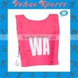 Custom made netball bibs for high school team pratice