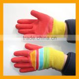 Kids Garden Gloves Colorful Cotton Liner Environmental Latex Coating Gloves
