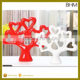 2016 ceramic Zakka fortune tree statue table decor for living room table craft home decoration