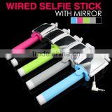 New products 2015 innovative product monopod selfie stick with instructions,selfie stick with mirror