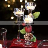 Clear Glass Candle Holder Wedding Centerpiece                                                                         Quality Choice