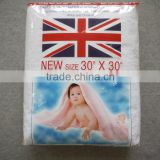 BD1061F HOLLEE Famous brand baby cloth 100%cotton sanitary washable/reuse pure white napkin diaper