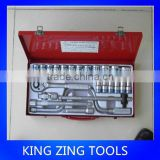 25Pcs 2014 best-selling chrome vanadium steel professional manual maintenance tool socket set