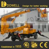 Customized 8-18m Hydraulic small trailer mounted boom lift for sale