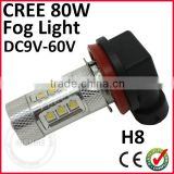brand new manufacture H8/h9/h11/h16 12v white amber red blue color 24v fog light led bulb parts for
