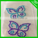 Decorative wholesale colored hotfix acrylic rhinestone sheet stickers