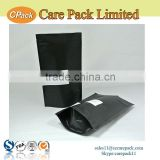 Aluminum mylar ziplock customized matt black dried food packaging bag