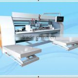 corrugated carton box stitching machine high speed four-servo small size two-piece semi auto stitcher