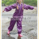 newest pvc raincoat kids coverall