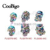 Multicolor Metal Charm Skull Beads For Paracord Bracelet Knife Lanyards Jewelry Making Accessories #FLQ076/78/80-MC