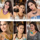 Tagua Jewelry Bundle, 6 Sets Necklaces And Earring: Tagua Jewelry Handcrafted Tropicolor
